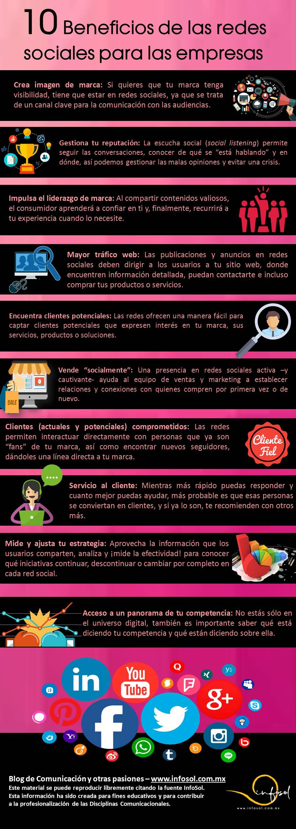 10 beneficios de las redes sociales para las empresas