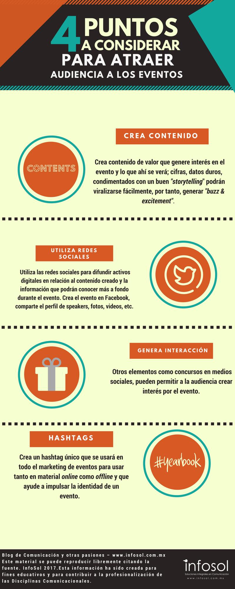 4 puntos a considerar para atraer audiencia a los eventos