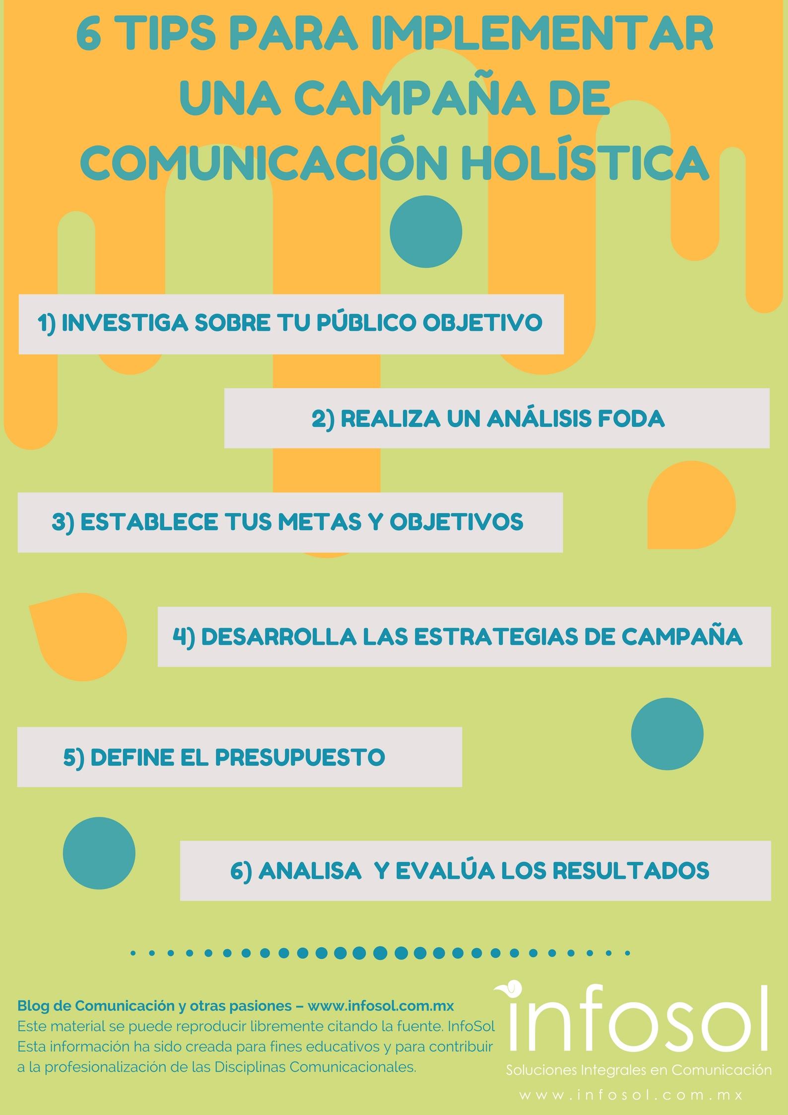 6 tips para implementar un campaña de Comunicación Holística
