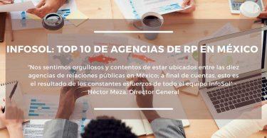 InfoSol, en el top 10 de las agencias de RP en México