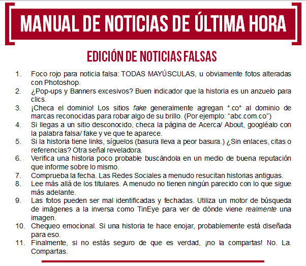 manual de noticias de última hora